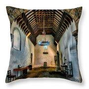 Priory Church Of St Seiriol Throw Pillow by Adrian Evans