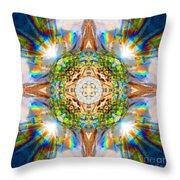 Prism Rainbow Mandala Throw Pillow
