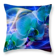 Prismatic Orchid Swirl Throw Pillow