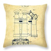 Prismatic Telescope Patent From 1908 - Vintage Throw Pillow