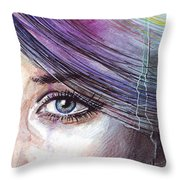 Prismatic Visions Throw Pillow by Olga Shvartsur