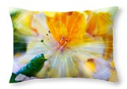 Prisms Of Nature - Meditation - Rhododendron  Throw Pillow