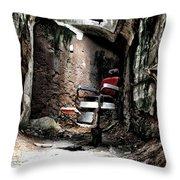 Prison Barbershop Throw Pillow