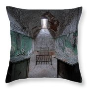 Prison Cell At Eastern State Penitentiary Throw Pillow