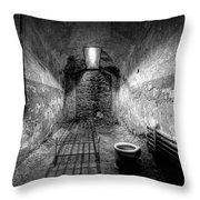 Prison Cell Black And White Throw Pillow
