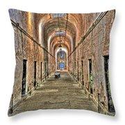 Prison Cells Throw Pillow