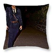 Prison Guard Zombie Throw Pillow