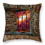 Prison In The Cosmos Throw Pillow