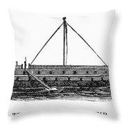 Prison Ship: Jersey Throw Pillow by Granger
