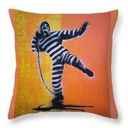 Prisoner Shotput Throw Pillow