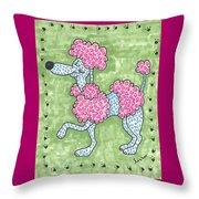 Prissy Poodle Throw Pillow