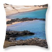 Private Beaches Throw Pillow