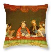 Private Box, Drury Lane, 1837 Throw Pillow