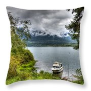 Private Dock Throw Pillow