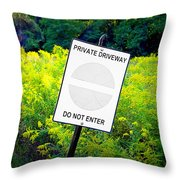 Private Driveway Throw Pillow