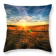 Private Field Throw Pillow