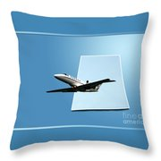 Private Jet Chicago Airplanes 14 Throw Pillow
