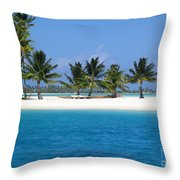 Private Motu Bora Bora Throw Pillow