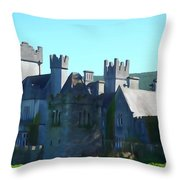 Private Property - Castle Art By Charlie Brock Throw Pillow
