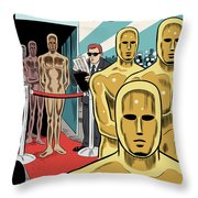 Privileged Characters Throw Pillow