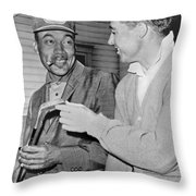 Pro Golfers Chat Throw Pillow