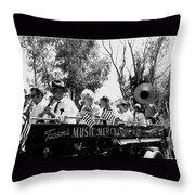 Pro-viet Nam War March Beaver's Band Box Musicians Tucson Arizona 1970 Black And White Throw Pillow
