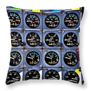 Concorde Controls Throw Pillow