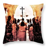 Procession Of Light Throw Pillow