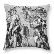 Procession Of Princes - Dresden Germany Throw Pillow