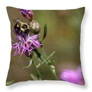 Productive Bee Throw Pillow