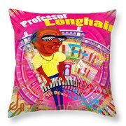 Professor Longhair Throw Pillow