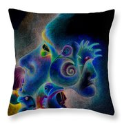 Profile Throw Pillow by Bodhi