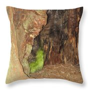 Profile Face In Tree Throw Pillow