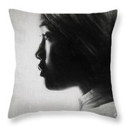 Profile Of A Young Woman In Turban Throw Pillow