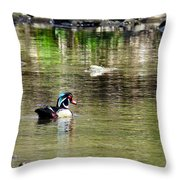 Profiled Duck Throw Pillow