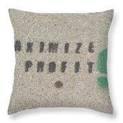 Profit Throw Pillow