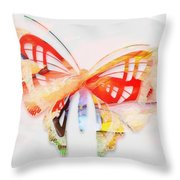 Profound Thought Butterfly Throw Pillow