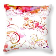 Profound Thought Whirls Throw Pillow
