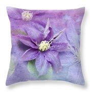 Profusion Of Purple Throw Pillow