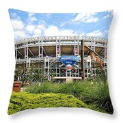 Progressive Field Throw Pillow by Frozen in Time Fine Art Photography