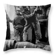 Federal Prohibition Agents Destroy Liquor 1923 Throw Pillow