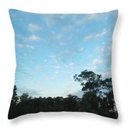 Projecting Into Heaven Throw Pillow