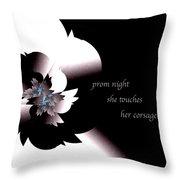 Prom Night Haiga Throw Pillow