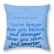 Promise Me - Winnie The Pooh - Blue Throw Pillow