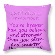 Promise Me - Winnie The Pooh - Pink Throw Pillow