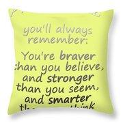 Promise Me - Winnie The Pooh - Yellow Throw Pillow