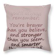 Promise Me - Winnie The Pooh  Throw Pillow