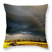 Promise On The Mother Road Rt 66 Flagstaff Az Throw Pillow