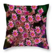 Promising Pink Petals Abstract Garden Art By Omaste Witkowski Throw Pillow
