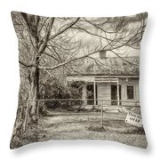 Promoting The Obvious - Paint Bw Throw Pillow